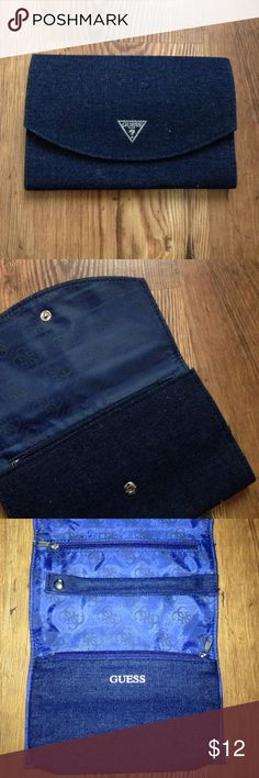 Guess Denim Wallet Like new Guess Bags Wallets