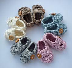 Ravelry: Keelan - Chunky Strap Baby Shoes pattern by Julie Taylor