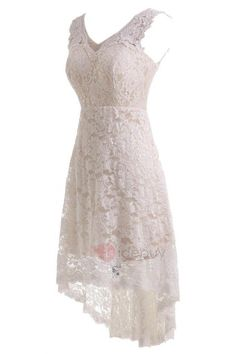 Tidebuy.com Offers High Quality Simple V Neck Lace Beach Wedding Dress, We have more styles for Wedding Dresses 2016