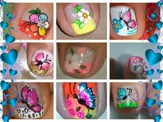 + uñas Fancy Nails Designs, Pedicure Designs, Toe Nail Designs, Feet Nails, My Nails, French Pedicure, Nails Only, Toe Nail Art, Flower Nails