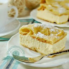 Sweet Recipes, Cake Recipes, Custard Slice, Polish Recipes, Let Them Eat Cake, No Bake Cake, Vanilla Cake, Sweet Tooth, Cheesecake