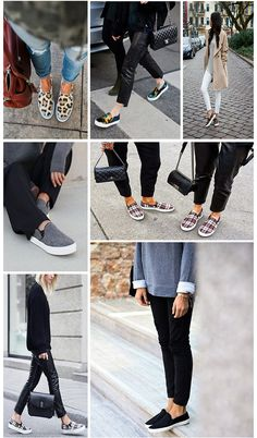 Accessory Report - Slip-on Sneakers- While we'll always cherish a fierce pair of heels, this season we are having a love affair with our sneakers especially the easy to slip-on kind.