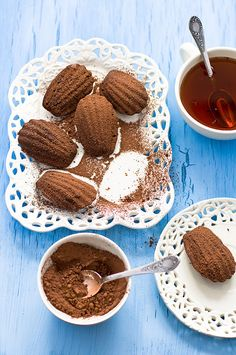 Wonderfully yummy Chocolate Madeleines. #food #yummy For guide + advice on healthy lifestyle, visit www.thatdiary.com