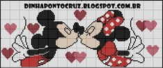 Minnie and Mickey Mouse x-stitch Elephant Cross Stitch, Cross Stitch Owl, Cat Cross Stitches, Cross Stitch For Kids, Cross Stitch Bookmarks, Cross Stitch Designs, Cross Stitch Patterns, Disney Stitch, Blackwork Cross Stitch