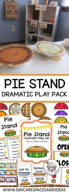 Create a fun pie stand with this dramatic play pack!