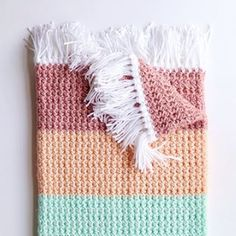 I'm excited to share this pattern for the Crochet Boho Color Block Blanket because I've had… Crochet Daisy, Manta Crochet, Crochet Bebe, Crochet Hooks, Boy Crochet, Crochet Gifts, Single Crochet, Free Crochet, Crochet Blanket Patterns