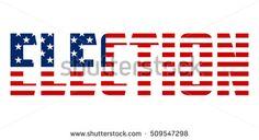 Election text vector format - Presidential election 2016 USA