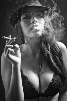 Only classy women smoke cigars