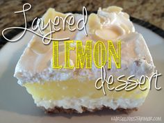 Layered Lemon Dessert