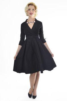 Lindy Bop 'Vivi' Black Vintage Dress - Little Wings Factory