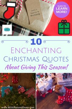 Shake off the bah-humbugs and get into the holiday spirit with these 10 Christmas quotes on giving. Inspiring Quotes About Life, Quotes Inspirational, Giving Quotes, Santas Workshop, Best Friend Birthday, Shake It Off, Christmas Quotes, Funny Sayings, Friends Family