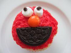 Funfetti ElmoCupcakes