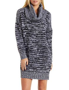Cowl Neck Sweater Dress: Charlotte Russe