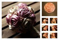 DIY Wedding Ribbon Rose Bouquet | UsefulDIY.com