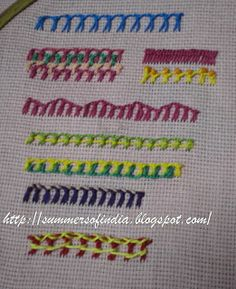 SummersofIndia: Embroidery Stitches