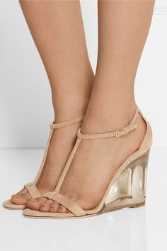 Burberry Prorsum leyburn suede wedge sandals 950