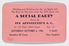 Yale's Beinecke Library is displaying Langston Hughes's collection of rent party cards, advertisements for fundraising gatherings in an era of discriminatory Harlem rent.