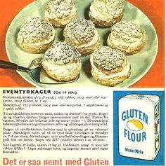 Eventyrkager nr r 652 Dinner Is Served, Mini Foods, Eat Right, Vintage Recipes, No Bake Cake, Gluten, Muffin, Sweets, Cooking