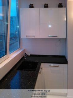 Кухня модерн на балконе. Вид 4