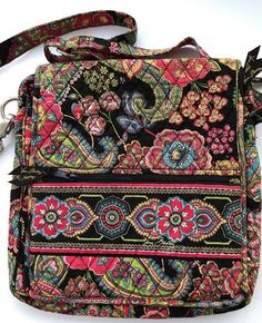 Vera Bradley Crossbody Hipster Bag Tote 12 in Floral Paisley fd35f745a1092