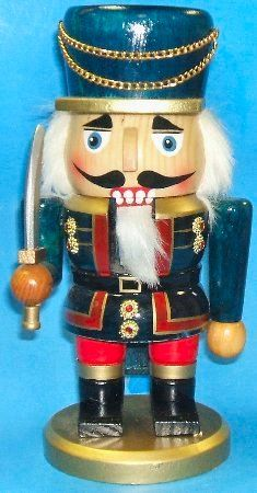 Wooden Chubby Swordsman Christmas Nutcracker