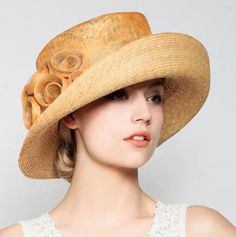 Vintage flower sun hats for women crimping straw beach summer hats