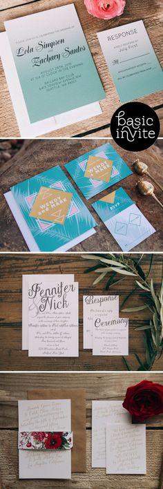 Basic Invite - Stylish Stationery for Weddings!