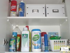 {Decluttering 52 Things} Little Laundry Cupboard