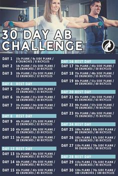 Most Popular 30 Day Ab Challenge Fitness Plans ★ See more: http://glaminati.com/30-day-ab-challenge-plans/ 30 Day Ab Challenge, Workout Challenge, 30 Day Abs, Core Muscles, Thigh Exercises, Exercise Plans, Workout Programs, Flat Abs, Excercise
