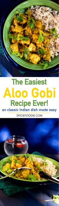 The Easiest Aloo Gobi Recipe Ever! Gobi Recipes, Curry Recipes, Fall Recipes, Vegetarian Recipes, Healthy Recipes, Healthy Foods, Indian Vegetable Recipes, Indian Beef Recipes, Ethnic Recipes