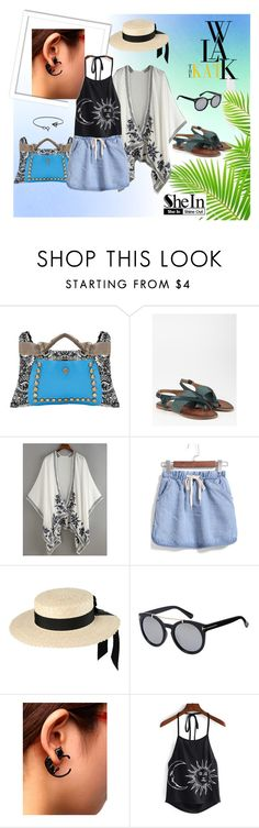 """""""♥SheIn- Halter Print Top♥"""" by lence-59 ❤ liked on Polyvore featuring Mich Dulce"""