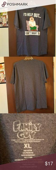 Family Guy Tee Cartoon Logo Gray Family Guy T-Shirt New never worn. Family Guy Shirts Tees - Short Sleeve