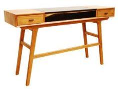 Retro Two Tone Mid Century Console Table