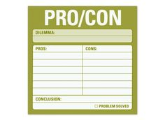 pro/con sticky notes $3.75 @Jeremy Kindel - Perhaps this would help you with your decision making?? :)
