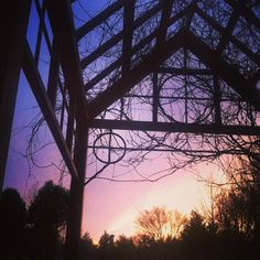 The view of a #gvsu sunset from the Arboretum.