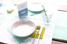 Gin party stap #8. Tafeldecoratie    | Kleuraccenten #garden #party #gin #mint #blue #green #lemon #tabledeco #summer #blog #Beaublue