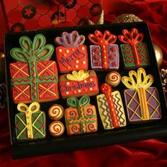 Christmas Presents Cookie Set - Custom Cookie Co., UK