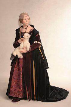 Lady with an ermine art doll - Cecilia Gallerani