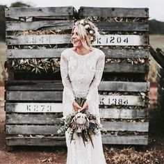 40 Trend Protea Wedding Ideas for 2016 Protea is one of the latest trends in so have a look at the ideas to make your wedding super trendy! Protea bouquets are awesome and very original – just take one or several flowers and add some greenery or. Protea Wedding, Boho Wedding Bouquet, Bohemian Wedding Dresses, Best Wedding Dresses, Trendy Wedding, Wedding Ideas, Bohemian Bride, Wedding Flowers, Bohemian Weddings