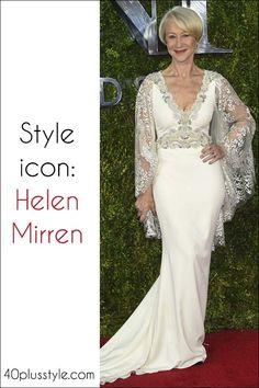 Хелен Миррен стиль значок значок | 40plusstyle.com