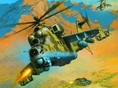 Soviet Mi-24 Hind helicopter, Afghanistan