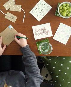 Forest green confetti coasters - Cotton & Flax - perfect holiday decor