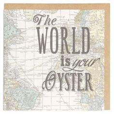 The world is your oyster map card