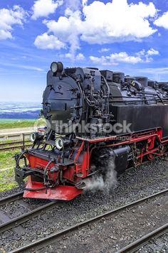스톡 사진 : Steam locomotive