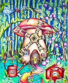 "Gefällt 34 Mal, 1 Kommentare - Magdalena Grabowska Em Ska Gie (@emska_gie_kolorowo) auf Instagram: ""#tenderfulenchantments #klaramarkova @klaramarkovajewels #adultcoloringbook #coloringbook…"""