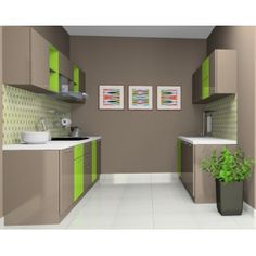 Parallel  8 x 10' Ft Modular Kitchen