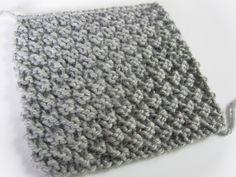 AnnyMay Le Blog: Point facile au tricot: le point de damier 2 mailles
