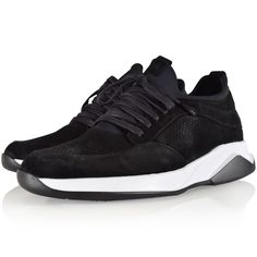 MALLET FOOTWEAR Mallet Footwear Black Suede Archway Trainers - Men from Brother2Brother UK