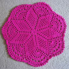 Pink Crochet Rug by berlinerkindl on Etsy, $23.00