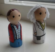 Back to the Future dolls.  Weird!      Marty McFly and Doc Brown